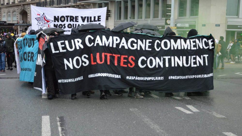 Manifestation pour le droit à la ville